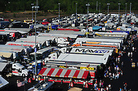 Apr. 13, 2012; Concord, NC, USA: NHRA nitro pits during qualifying for the Four Wide Nationals at zMax Dragway. Mandatory Credit: Mark J. Rebilas-