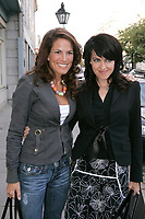 Sylvie Marcoux (L) Genevieve Borne (R) at Sophie Chiasson book launch, 2006-09-21.<br /> <br /> she is a weather presentator on TVA who won a diffamtion lawsuit against Quebec City Genex radio host Jeff Fillion<br /> Photo by P. Roussel / Images Distribution