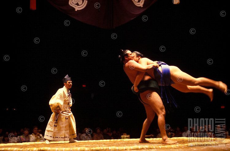 Sumo match at the Blaisdell Arena, Honolulu