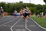 28 MAY 2016:  Mitchell Black of Tufts leads the pack of runners of the men's 800 meter run during the Division III Men's and Women's Outdoor Track & Field Championship held at Walston Hoover Stadium on the Wartburg College campus in Waverly, IA. Black won the race with a time of 1:49.58. Conrad Schmidt/NCAA Photos