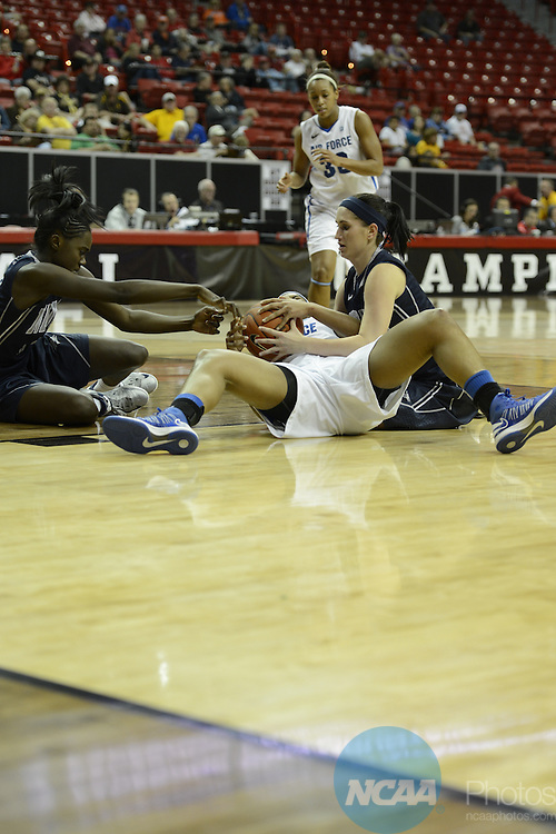 12 MAR 2013: The University of Nevada takes on the Air Force Academy during the Mountain West Conference Women's Basketball Tournament held at the Thomas & Mack Center in Las Vegas, NV. NCAA Photos.