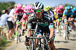 Bora-Hansgrohe in action on the cobbles during Stage 9 of the 2018 Tour de France running 156.5km from Arras Citadelle to Roubaix, France. 15th July 2018. <br /> Picture: ASO/Pauline Ballet | Cyclefile<br /> All photos usage must carry mandatory copyright credit (&copy; Cyclefile | ASO/Pauline Ballet)