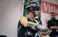 Dylan Groenewegen (NED/LottoNL-Jumbo) awaits his turn to start his TT<br /> <br /> 104th Tour de France 2017<br /> Stage 1 (ITT) - D&uuml;sseldorf &rsaquo; D&uuml;sseldorf (14km)