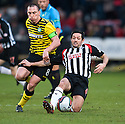 CELTIC'S SCOTT BROWN IS CHALLENGED BY PARS GARY MASON