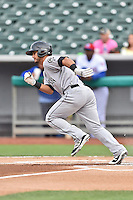 Jackson Generals second baseman Tim Lopes (7) runs to first during a game against the Tennessee Smokies at Smokies Stadium on July 5, 2016 in Kodak, Tennessee. The Generals defeated the Smokies 6-4. (Tony Farlow/Four Seam Images)