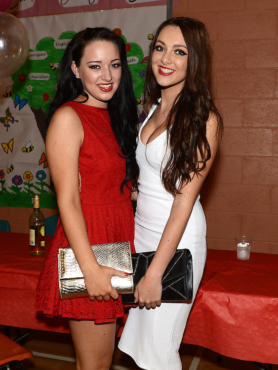 Amy Hanratty and Claire Breen pictured at the Englishby family gathering held in Mattock Rangers Community Centre. Photo:Colin Bell/pressphotos.ie