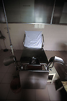 The abortion chair of a country clinic in Guangdong Province, south China.  Forced abortions are commonly carried out by the Birth Control Unit on women that go &quot;over quota&quot; or break the law strict Birth Control laws in China.  Recently riots broke out and five officials were killed in Bobai country in south China after forced abortions and fines were levied on the hapless population.<br /> &copy;sinopix