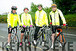 At the Currow Annual cycle on Sunday were l-r  Gerard O'Connor, Bridget O'Connor, Billy O'Shea and Kieran Glover