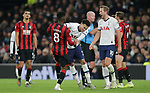 Tottenham's Dele Alli appears to push Bournemouth's Jefferson Lerma as players from both teams clash during the Premier League match at the Tottenham Hotspur Stadium, London. Picture date: 30th November 2019. Picture credit should read: Paul Terry/Sportimage