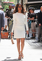 NEW YORK, NY - MAY 3:  Priyanka Chopra spotted leaving 'The View' accompanied by her mother Madhu Chopra in New York, New York on May 3, 2018.  Photo Credit: Rainmaker Photo/MediaPunch