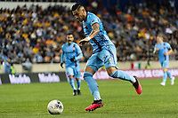 HARRISON, NJ - MARCH 11: Ronald Matarrita #22 of NYCFC during a game between Tigres UANL and NYCFC at Red Bull Arena on March 11, 2020 in Harrison, New Jersey.