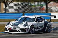 2017 Porsche GT3 Cup USA<br /> Sebring International Raceway, Sebring, FL USA<br /> Friday 17 March 2017<br /> 24, Jake Eidson, GT3P, USA, 2017 Porsche 991<br /> World Copyright: Jake Galstad/LAT Images<br /> ref: Digital Image lat-galstad-SIR-0317-14848