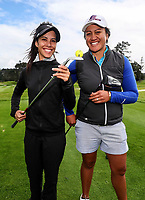 Tania Tare and Phillis Meti golf skills demonstration during the Anita Boon Pro-Am, North Shore Golf Course, Auckland, New Zealand Thursday 21 September 2017.  Photo: Simon Watts/www.bwmedia.co.nz