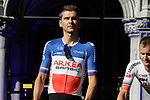 New French Champion Warren Barguil (FRA) Team Arkea-Samsic at the team presentation held on the Grand-Place before the 2019 Tour de France starting in Brussels, Belgium. 4th July 2019<br /> Picture: Colin Flockton | Cyclefile<br /> All photos usage must carry mandatory copyright credit (© Cyclefile | Colin Flockton)