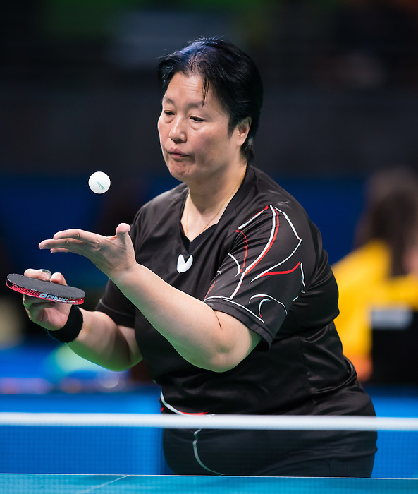 RIO DE JANEIRO - 11/09/2016 Stephanie Chan competes in the Women's Singles Class 7 Table Tennis Semifinal at the Rio 2016 Paralympic Games at the Riocentro - Pavilion 3. (Photo by Angela Burger/Canadian Paralympic Committee)