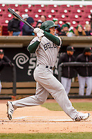 Beloit Snappers outfielder Brett Siddall (35) at bat during a Midwest League game against the Wisconsin Timber Rattlers on April 10th, 2016 at Fox Cities Stadium in Appleton, Wisconsin.  Wisconsin defeated Beloit  4-2. (Brad Krause/Four Seam Images)