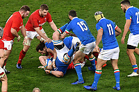 Abraham Steyn, Michele Campagnaro Italy <br /> Roma 9-02-2019 Stadio Olimpico<br /> Rugby Six Nations tournament 2019  <br /> Italy - Wales <br /> Foto Andrea Staccioli / Resini / Insidefoto