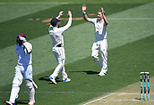 1st December 2017, Basin Reserve, Wellington, New Zealand; International Test Cricket, Day 1, New Zealand versus West Indies;  Neil Wagner celebrates the wicket of Gabriel