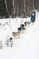 Judy Merritt w/Iditarider on Trail 2005 Iditarod Ceremonial Start near Campbell Airstrip Alaska SC