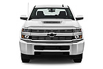 Car photography straight front view of a 2018 Chevrolet Silverado 2500HD LT 4WD Crew Cab 4 Door Pick Up