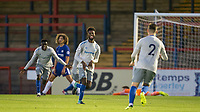 Celebrates as Beni Banningime (centre) of Everton scores the 2nd goal during the U23 Premier League 2 match between Chelsea and Everton at the EBB Stadium, Aldershot, England on 25 August 2017. Photo by Andy Rowland.
