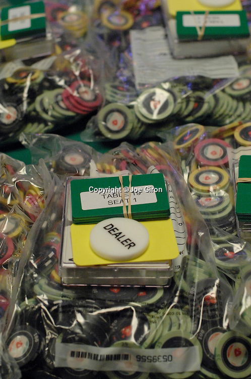 Chips, seat cards and buttons