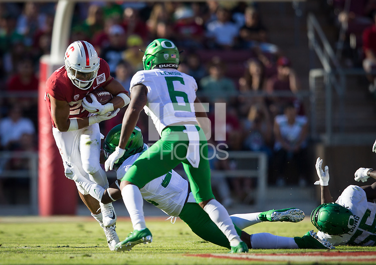 Stanford, CA - September 21, 2019: Cameron Scarlett at Stanford Stadium. The Stanford Cardinal fell to the Oregon Ducks 21-6.