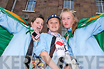 Aoife-Bella Flamini, Amy O'Regan and Shannon Hegarty (all Tralee) waiting for Jedward on Friday.