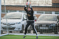 Wednesday  06 January 2016<br /> Pictured: Kristoffer Nordfeldt of Swansea in action during training<br /> Re: Swansea City Training session at the Fairwood training ground, Swansea, Wales, UK