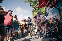 John Degenkolb (DEU/Trek-Segafredo) warming down post-race<br /> <br /> Stage 2: Mouilleron-Saint-Germain &gt; La Roche-sur-Yon (183km)<br /> <br /> Le Grand D&eacute;part 2018<br /> 105th Tour de France 2018<br /> &copy;kramon