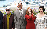 PEDRO ALMODOVAR, WILL SMITH, JESSICA CHASTAIN AND FAN BINGBING - PHOTOCALL OF JURY AT THE 70TH FESTIVAL OF CANNES 2017