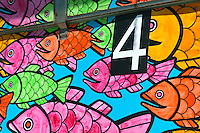 Santa Monica Bay CA, Beach, Lifeguard, Stations, Summer of Color, exhibit, Lifeguard, Towers, Portraits of Hope, Geometric, shapes,