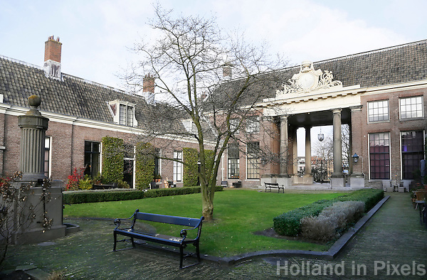 Nederland Haarlem  2016. Het Teylers Hofje. Foto Berlinda van Dam / Hollandse Hoogte