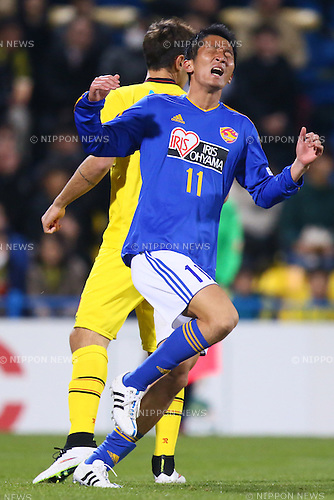 Hidetaka Kanazono (Vegalta),<br /> MARCH 13, 2015 - Football / Soccer : <br /> 2015 J1 League 1st stage match between<br /> Kashiwa Reysol 1-1 Vegalta Sendai<br /> at Hitachi Kashiwa Stadium in Chiba, Japan.<br /> (Photo by Shingo Ito/AFLO SPORT)