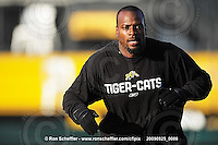 September 25, 2009; Hamilton, ON, CAN; Hamilton Tiger-Cats linebacker Otis Floyd (35). CFL football: Montreal Alouettes vs. Hamilton Tiger-Cats at Ivor Wynne Stadium. The Alouettes defeated the Tiger-Cats 42-8. Mandatory Credit: Ron Scheffler. Copyright (c) 2009 Ron Scheffler.
