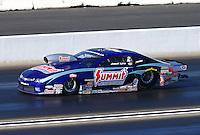 Feb 8, 2015; Pomona, CA, USA; NHRA pro stock driver Jason Line during the Winternationals at Auto Club Raceway at Pomona. Mandatory Credit: Mark J. Rebilas-