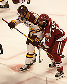 Dominic Toninato (UMD - 19), Alexander Kerfoot (Harvard - 14) - The University of Minnesota Duluth Bulldogs defeated the Harvard University Crimson 2-1 in their Frozen Four semi-final on April 6, 2017, at the United Center in Chicago, Illinois.