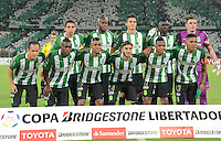 MEDELLÍN -COLOMBIA-03-05-2016. Jugador de Atlético Nacional de Colombia posan para una foto previo al encuentro de octavos de final, llave A, con Huracan de Argentina por la Copa Bridgestone Libertadores 2016 jugado en el estadio Atanasio Girardot de la ciudad de Medellín. / Players of Atletico Nacional of Colombia pose to a photo prior  knockout round match, Key A, against Huracan of Argentina for the Copa Bridgestone Libertadores 2016 played at Atanasio Girardot stadium in Medellin city. Photo: VizzorImage / Luis Ramirez / Staff