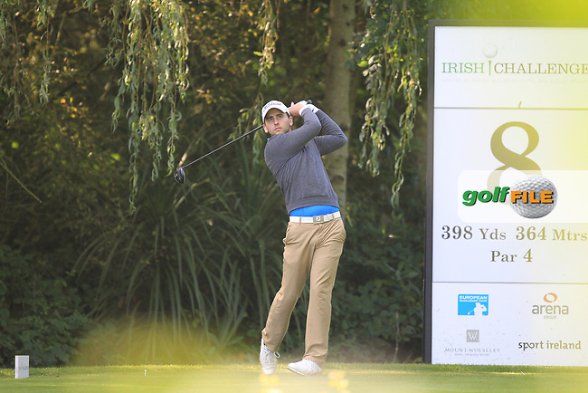 Nicolal Von Dellingshausen (GER) during round 1 of the Irish Challenge, Mount Wolseley Hotel and Golf Resort, Tullow, Co Carlow, Ireland 14/09/2017<br /> Picture: Fran Caffrey / Golffile<br /> <br /> All photo usage must carry mandatory copyright credit (&copy; Golffile | Fran Caffrey)
