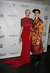 Diandra Forrest and Rain Dove at Color of Beauty Awards hosted by VH1's Gossip Table's Delaina Dixon and Maureen Tokeson-Martin on February 28, 2015 with red carpet, awards and cocktail reception at Ana Tzarev Gallery, New York City, New York.  (Photo by Sue Coflin/Max Photos)