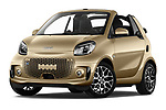 Stock pictures of low aggressive front three quarter view of 2020 Smart EQ-fortwo Comfort-Plus 2 Door Convertible Low Aggressive