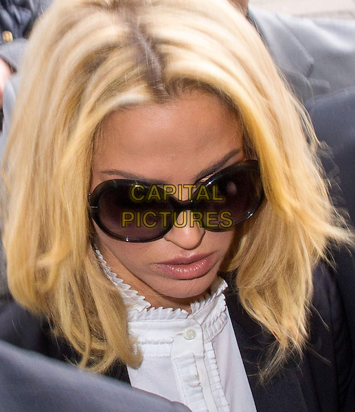 Sarah Harding court appearance.  Former Girls Aloud star appears in court charged with using her mobile phone while driving and failing to stop her car for police, after an incident in central London on April 4.  Highbury Magistrates' Court, 51 Holloway Road, London, England..16th April 2013.headshot portrait black white sunglasses shades .CAP/BF.©Bob Fidgeon/Capital Pictures