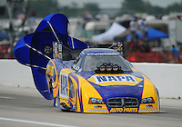 Apr. 29, 2012; Baytown, TX, USA: NHRA funny car driver Ron Capps during the Spring Nationals at Royal Purple Raceway. Mandatory Credit: Mark J. Rebilas-