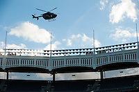 BRONX, NY - Sunday October 25, 2015: New York City FC loses 1-3 the New England Revolution at home at Yankee Stadium during the 2015 MLS regular season.