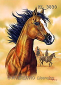 Interlitho, Lorenzo, REALISTIC ANIMALS, paintings, horse head, brown(KL3830,#A#) realistische Tiere, realista, illustrations, pinturas ,puzzles