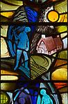 Church of Saint Andrew, Little Glemham, Suffolk, England, UK modern stained glass window artist not known