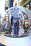 """Times Square Alliance unveiled its first season of Broadway """"Show Globes"""", James Harkness from """"Ain't Too Proud"""" in Times Square on November 04, 2019 in New York City."""