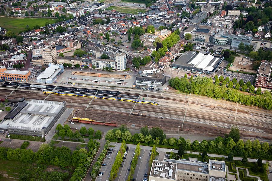 Nederland, Limburg, Gemeente Sittard-Geleen, 27-05-2013; centrum van Sittard met Emplacement en station.<br /> Town centre with railway station.<br /> luchtfoto (toeslag op standaardtarieven);<br /> aerial photo (additional fee required);<br /> copyright foto/photo Siebe Swart.