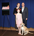 Katie Finneran, Lilla Crawford, Anthony Warlow & Sunny as Sandy attending the Meet & Greet for 'ANNIE' at The New 42nd Street Rehearsal Studios in New York City on September 112, 2012