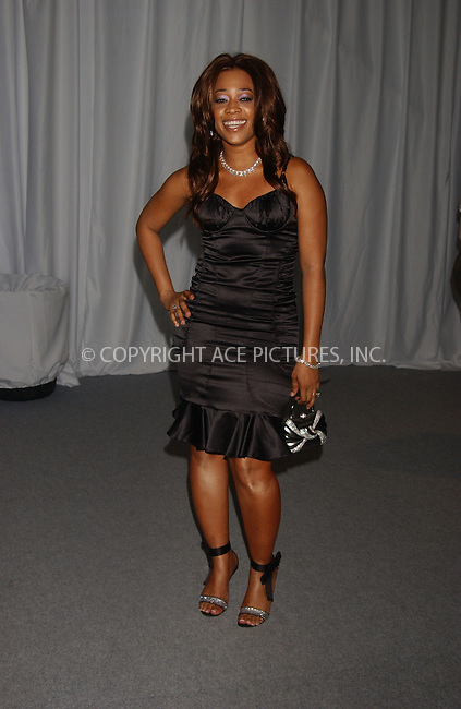 WWW.ACEPIXS.COM . . . . . ....NEW YORK, SEPTEMBER 8, 2006....Trina at the Baby Phat Spring 2007 Show.....Please byline: KRISTIN CALLAHAN - ACEPIXS.COM.. . . . . . ..Ace Pictures, Inc:  ..(212) 243-8787 or (646) 679 0430..e-mail: picturedesk@acepixs.com..web: http://www.acepixs.com
